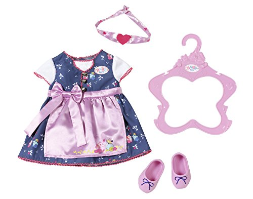 Zapf Creation 824504 Baby Born Dirndl, bunt
