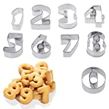 Girasool 9 Stück Edelstahl Zahlen Cookie Schablone, Keks Ausstecher Werkzeug Set