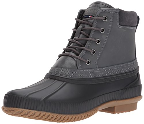 Tommy Hilfiger Men's Casey Rain Boot, Grey, 9 Medium US