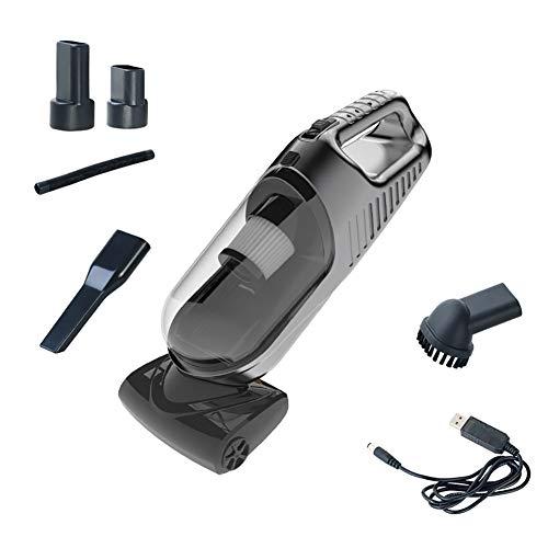 Portable Aspirateur de Voiture 4Kpa 120W Forte Aspiration Portable sans Fil Rechargeable pour Utilisation Humide/Sec/Maison/Voiture,USBWireless