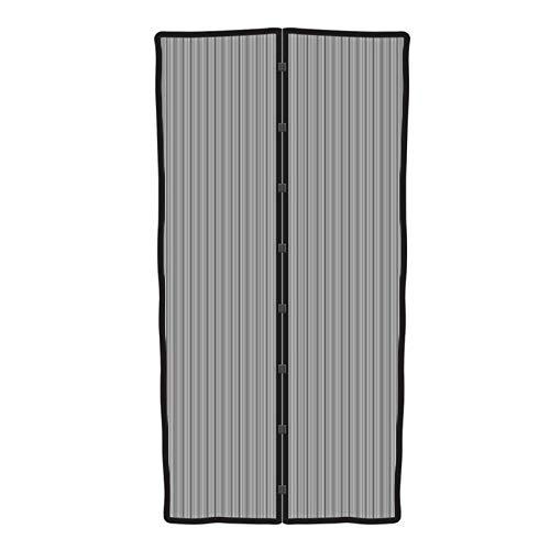 Insectenwerende deur met magneetsluiting 210x100 cm klittenbandbevestiging