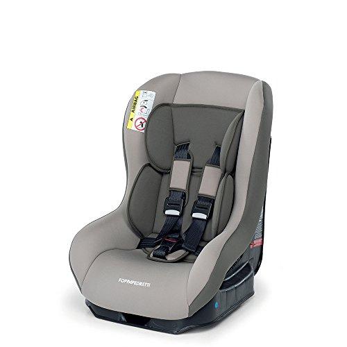 Foppapedretti Go! Evolution, Seggiolino auto Gruppo 0/1 (0-18 Kg) per Bambini dalla Nascita Fino a 4 Anni Circa, Sand