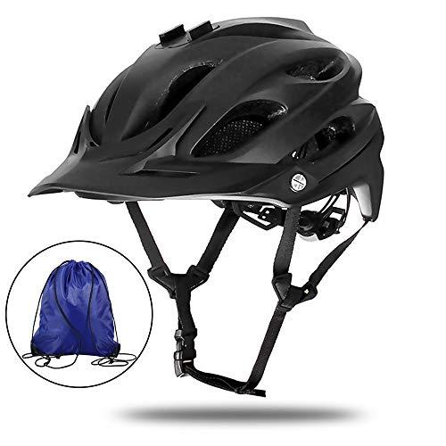 Casco De Bicicleta Para Adultos, Certificado Para Hombres, Mujeres, Montaña Y Carretera, Casco De Bicicleta, Protección De Seguridad (Proporciona Bolsas Para Cascos Gratis En Colores Aleatorios),Negro