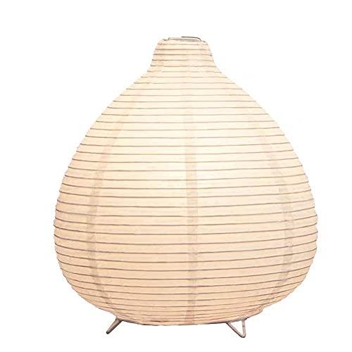 Yuemingsong Lighting Lámpara de Mesa de Papel Plegable, Lámpara de Mesa en Forma de Gota para Dormitorio, Estudio de Cabecera, Decoración de la Habitación de los Niños
