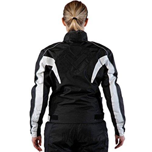 Lemoko Damen Textil Motorradjacke schwarz Gr XXL - 4