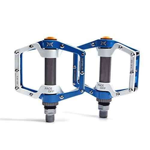 Pedales de Bicicletas MTB BMX Cojinete Sellado Bicicleta CNC Producto de aleación Carretera Montaña SPD SPD Clases Ultralight Pedal Ciclo Accesorios de Ciclismo (Color : Blue)