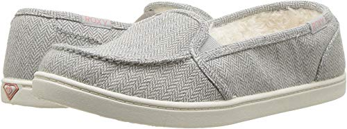 Roxy Minnow Wool Slip-On Grey Herringbone 8