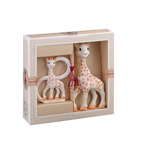 Sophie la girafe Sophiesticated Teether Set - Baby Teething Toy Gift Set