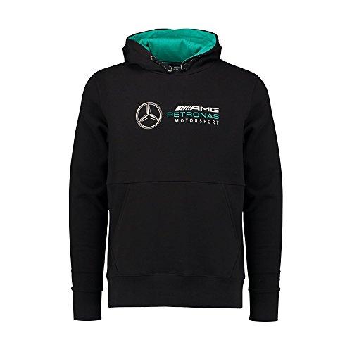 Mercedes AMG Petronas Mens Hoodie Black 2018 L