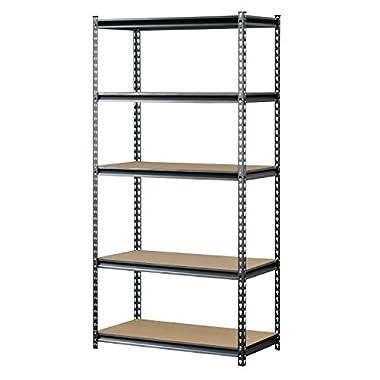 Muscle Rack UR361872PB5PAZ-SV Silver Vein Steel Storage Rack, 5 Adjustable Shelves, 4000 lb. Capacity, 72  Height x 36  Width x 18  Depth