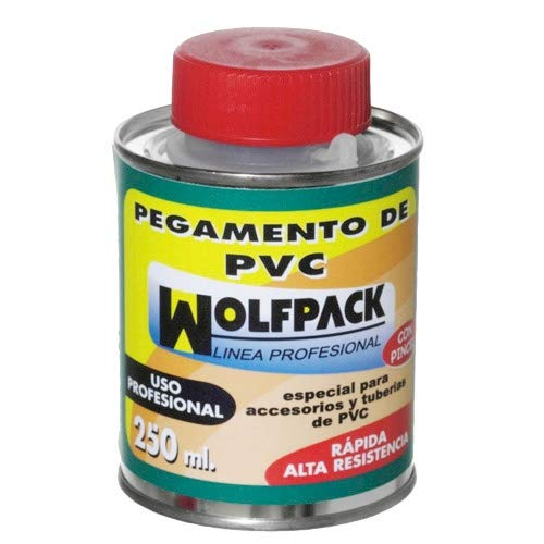 WOLFPACK LINEA PROFESIONAL 14020165 Pegamento PVC Wolfpack Con Pincel 250 ml