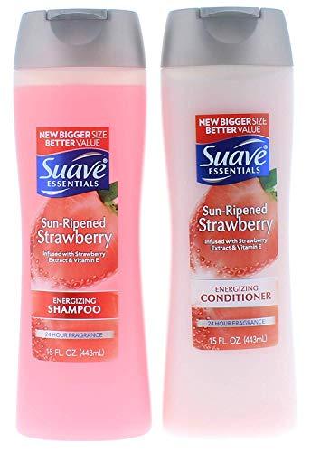Suave Essentials Sun-Ripened Strawberry Shampoo and Conditioner 15 Fl. Oz.