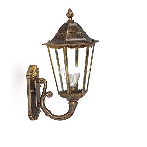 Lámpara de pared para exteriores Tradición Lámpara de pared antigua de vidrio Lámpara de pared para exteriores Villa Luces de pasillo Lámpara de pared impermeable para jardín Lámpara de balcón Lámpar