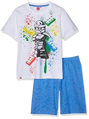 LEGO NINJAGO Jungen 5536 Zweiteiliger Schlafanzug, Weiß (Blanc Blanc), 6 Jahre