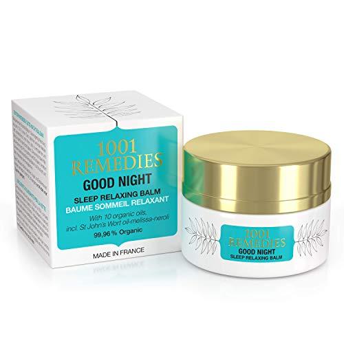 1001 Remedies Gute Nacht Schlafen Lavendel Balsam- Besser Schlafen Bio beruhigend Lotion- 11 ätherische Öle inkl. Lavendel - natürliche ruhe- bei Angst, Stress und Unruhe - geeignet für Kinder