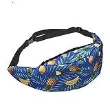 Cangurera Waist Bag Bolso De Cintura con Estampado 3D para Hombres Moda Hombre Cinturón De Cuero Cinturón Bolsa Monedero con Cremallera Diseñador Cinturón De Lu