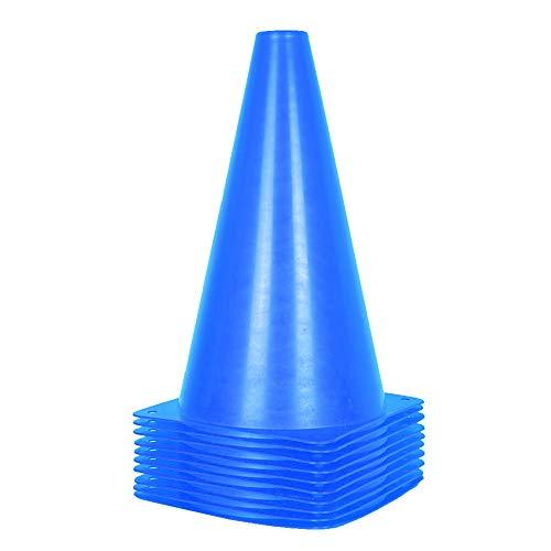 10 Stück Leitkegel für Kinder – 22,9 cm Fußballtrainingskegel für Outdoor-Aktivitäten und Festliche Veranstaltungen (Blau)