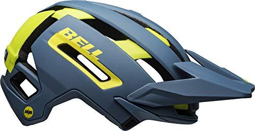 BELL Super Air MIPS Casco para Bicicleta de montaña, Hombre, Azul Mate/Azul Brillante, L | 58-62cm