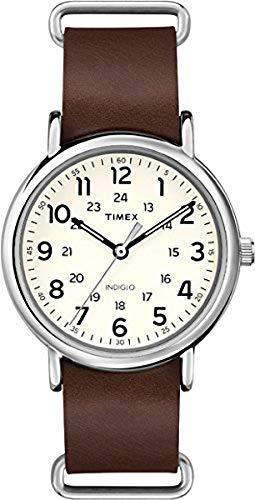 Timex Orologio Analogueico Quarzo Unisex con Cinturino in Pelle T2P495
