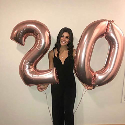 WZRQQ 2 Stks 40 Inch Groot Aantal Folie Ballonnen Gelukkig 25 Jaar Oude Verjaardag Ballon Volwassen Verjaardag Party Verjaardag Decor
