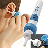 Electric Earwax Removal Kit Tool, Automatic Ear Cleaner Vacuum Remover with LED Safe and Soft Ear-Pick 2 Heads for Adults and Kids(The Product Does Not Contain A Battery)