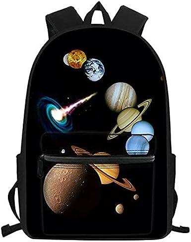 daweiwei Moda Galaxy Planet 3D Print School Bag Mochilas para niños para niñas adolescentes Niños Ortopedia Mochilas escolares Bolso de hombro para niños 28.5 * 40 * 17cm