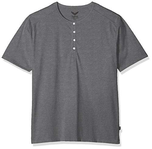 Trigema Herren 637204 T-Shirt, Grau (Steingrau-Melange 246), Large (Herstellergröße: L)