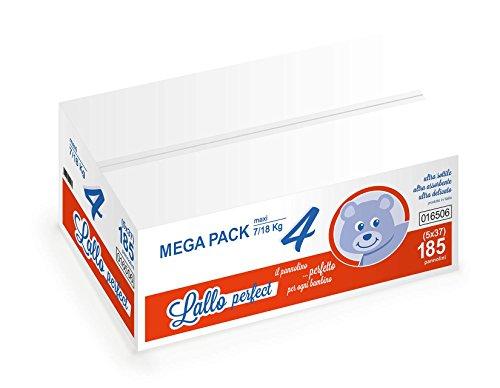 Megapack Pannolini Lallo Perfect NEW 4 Maxi 7/18 kg 170 pz