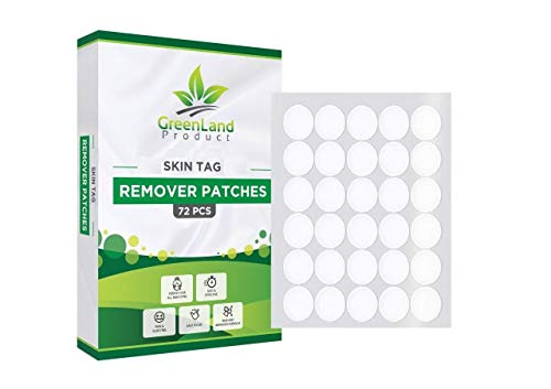 Skin Tag and Mole Remover Patches (72 Pcs) New and Improved Formulation Remover (Natural Ingredients)