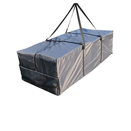Laxllent Kissen Tasche Gartenmöbel-Sitzkissen Aufbewahrungstasche Bettzeug Groß Tasche Decken,Wasserdicht,mit Griffen,Oxford Gewebe,175x75x55cm,Anthrazit