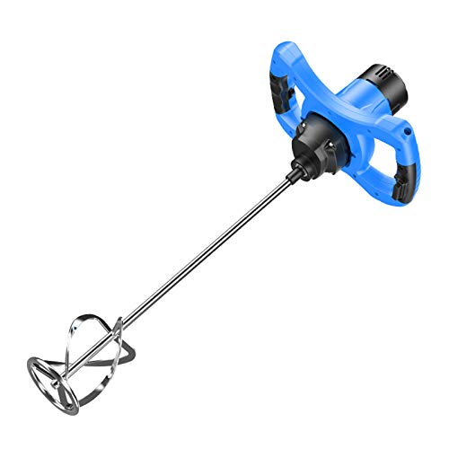 Paddle Mixer Drill,2800W Portable Electric Mortar Mixer,6 Speeds Pro Drill Mixer Stirring Toolideal for Mixing Feed, Plaster, Paint, Cement, Mortar