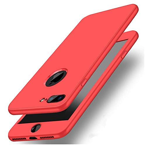IFMGJK Funda 360 para Huawei P20 Pro P10 P8 P9 Lite 2017 Honor 10 9 8 Lite 7A 7C Pro Y9 Y6 Y5 2018 P Funda de silicona para teléfono inteligente (color: rojo, tamaño: para Huawei P Smart)
