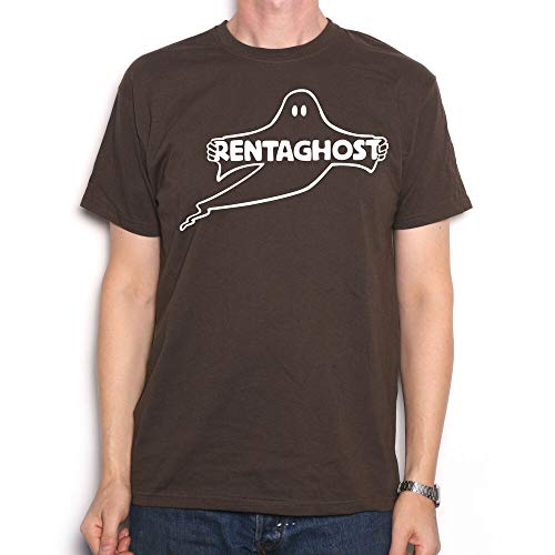 Rentaghost Logo T-shirt, Chocolate, S to 3XL