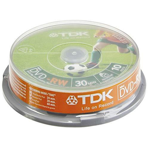 TDK DVD-RW 1.4GB 8 CM - Confezione da 10