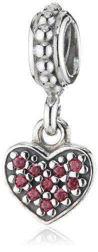 Pandora Damen-Charm 925 Sterling Silber Zirkonia rosa 791023CZR