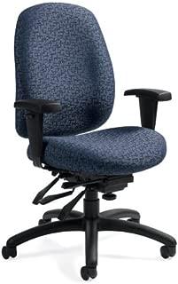 Global 1171-3 Granada Deluxe Mid Back Chair Gravel Road