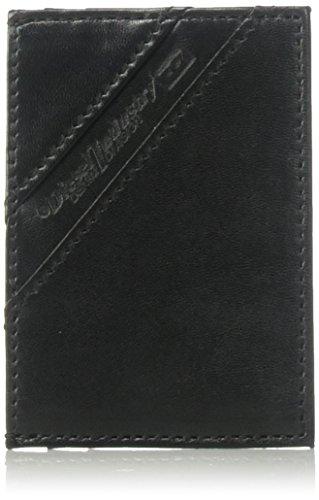 Diesel Herren Back-to-u Johnas Leather Card Case Wallet Kartenetui, schwarz, Einheitsgröße