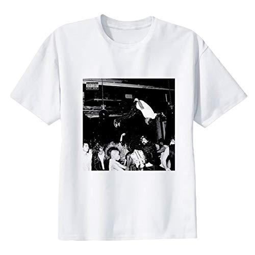 Xxxtentacion Camisetas Camiseta Deportiva Top de algodón Puro Moda Cuello Redondo Manga Corta Impresa Unisex