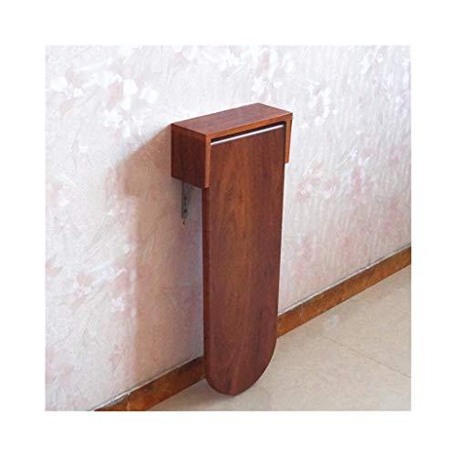 KXBYMX Table Pliante Simple Table de Bar Pliante, Table Haute Simple, Table à Manger familiale multifonctionnelle, (Couleur : Red Wood Grain, Taille : 85cm*60cm*80cm)