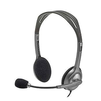Logitech Stereo Headset H110 Standard Packaging Silver