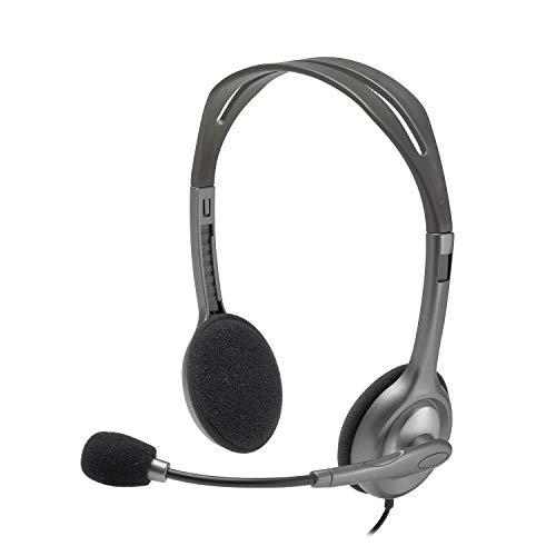 Logitech H110 - Auriculares con micrófono (Alámbrico, 3.5 mm (1/8'), PC/Juegos,...