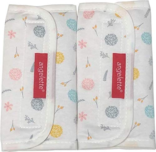 【angelette】Baby Carrier Reversible Sucking Pads/Car Seat Strap Covers/Stroller Belt Covers/Drool Pads/Teething Pads/Made in Japan