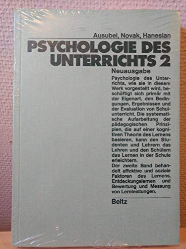 Psychologie des Unterrichts II