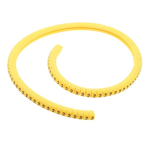 Sharplace 100 Stücke Kabelmarkierungen Kabelführung Kabelbinder Andere Kabel-Draht Nummer 2