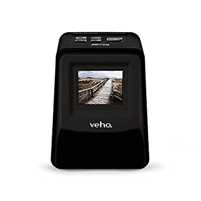 "Veho VFS-014-SF Smartfix Slide and Negative Film Scanner   35mm 110 128 Negatives   2.4"" LCD Colour Screen   Stand Alone & Portable Design   Mac Compatible   Designed in UK"