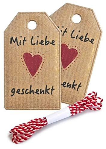 Anhänger Set Weihnachten Mit Liebe geschenkt
