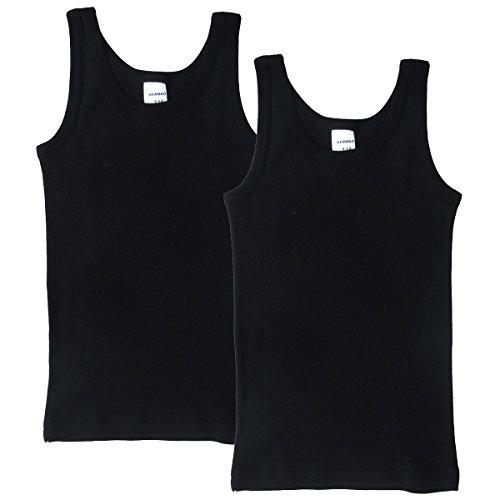 HERMKO 62800 2er Pack Kinder Funktionsunterhemd für Jungen und Mädchen, Farbe:schwarz, Größe:128