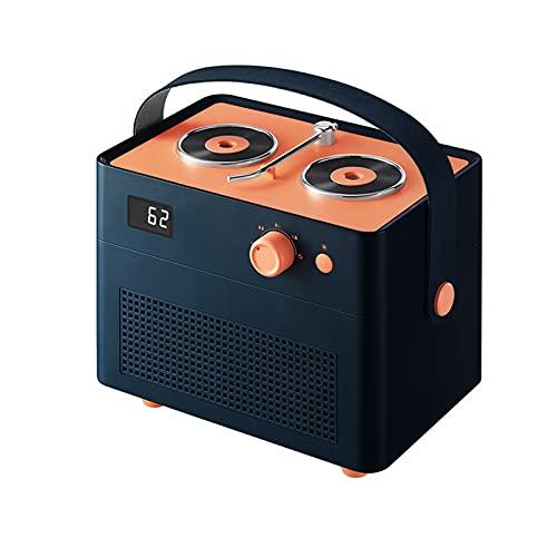 BANYANU Humidificador, Spray Doble Niebla Densa Atomizador, Tocadiscos De Moda Pantalla Digital 1.3L De Gran Capacidad Silencio Escritorio Luz De Noche Carga USB Humidificador De Aire por Sala,Azul