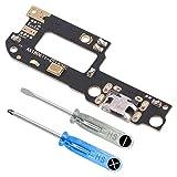MMOBIEL Repuesto Conector Dock Carga USB Typ C 1.0 Compatible con Xiaomi Mi A2 Lite Incl. Conexión Micrófono y Altavoz