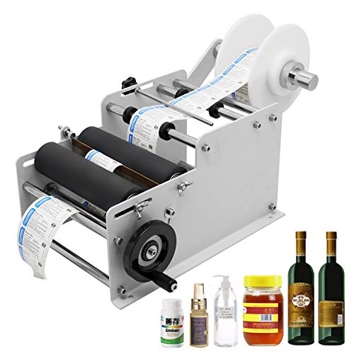 Hanchen Etiquetadora de Botellas Manual Máquina de Etiquetado de Botellas Redondas Diámetro 15-120mm MT-30